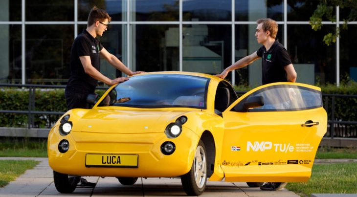 This 100% recycled material car was made by Dutch students